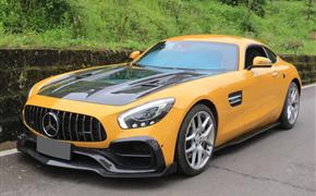 奔驰AMG GT改装Renntech碳纤维小包围前铲后唇侧裙尾翼机盖上车