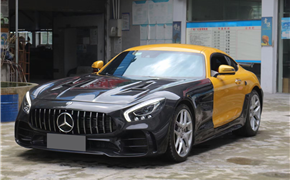 奔驰AMG GT/GTS改装GTR碳纤维大包围,前杠后杠侧裙尾翼叶子板机盖升级套件