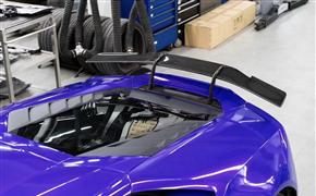 兰博基尼小牛飓风EVO改装Novitec碳纤维大尾翼