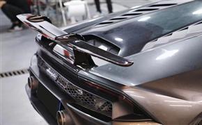 兰博基尼小牛EVO、LP580/610改装Performante碳纤维缎纹大尾翼
