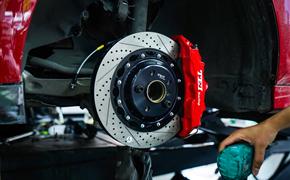 宝马3系325改装TEI Racing刹车前轮P60NS六活塞卡钳套件