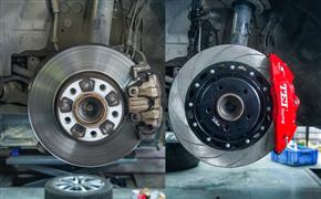 宝马3系前轮升级刹车改装案例,TEI Racing P40NS刹车卡钳套件