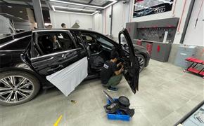 奥迪A6L改装升级原厂双层隔音隐私玻璃 隔音降噪私密性全都有